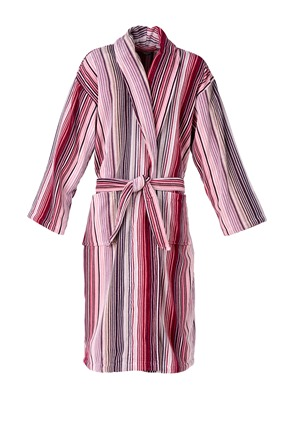 Capsule Stripe Robe in Berry