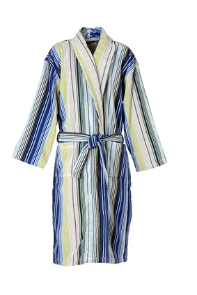 Capsule Stripe Robe in Blue