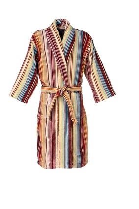 Capsule Stripe Robe in Spice
